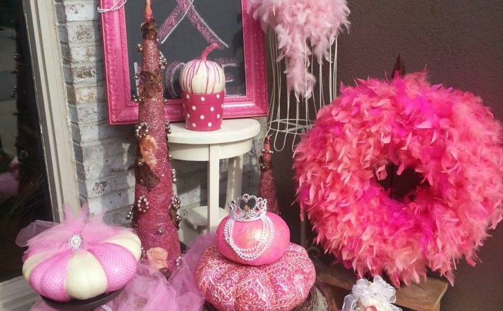 Over Top Pink Fall Decor Breast Cancer Awareness Month