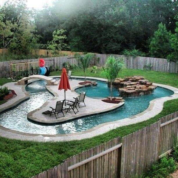 Own Lil Lazy River Swimming Pool Ideas Pinterest
