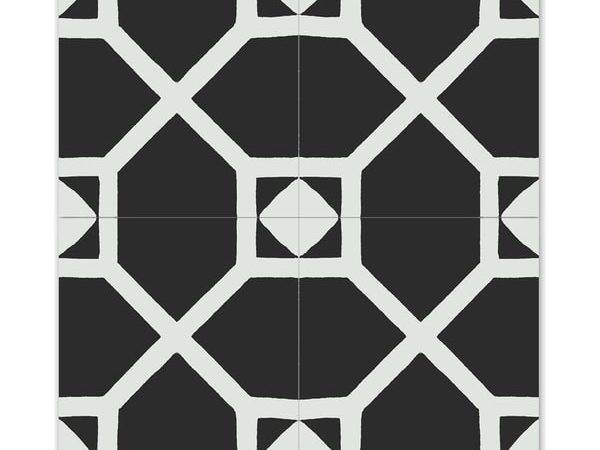 Pack Mogador Black White Handmade Cement Granite