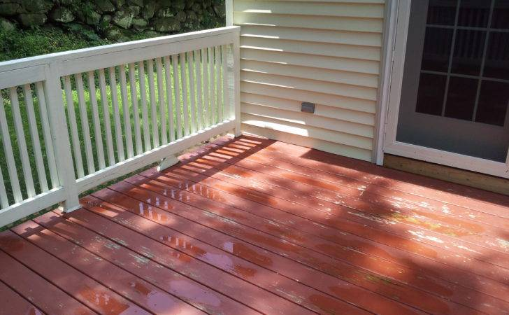 Paint Deck Painted Cleaned