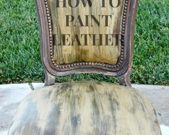 Paint Leather Vinyl Chairs Cece Caldwell Paints Even