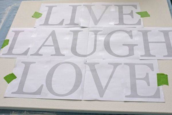 Paint Letters Canvas Love One