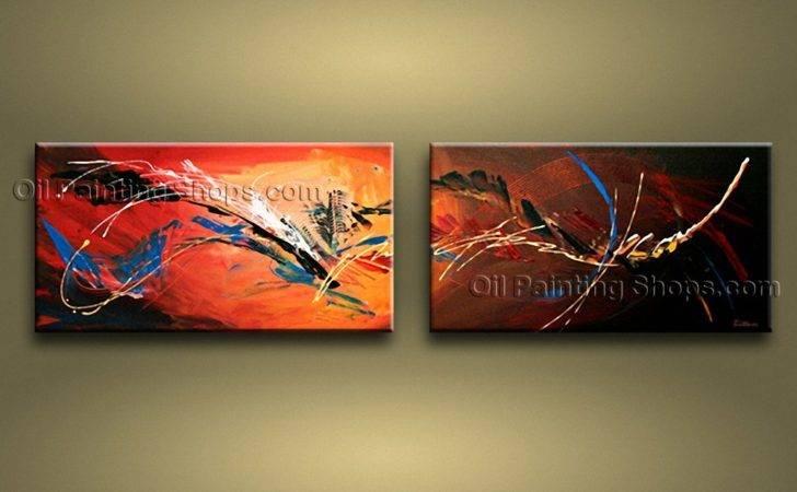 Painted Astonishing Modern Abstract Painting Wall Art Interior Design