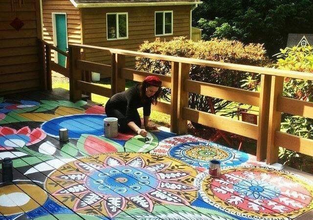 Painted Deck Project Home Design Garden Architecture Blog