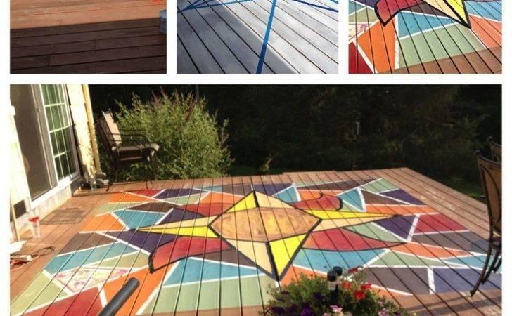 Painted Deck Yard Pinterest