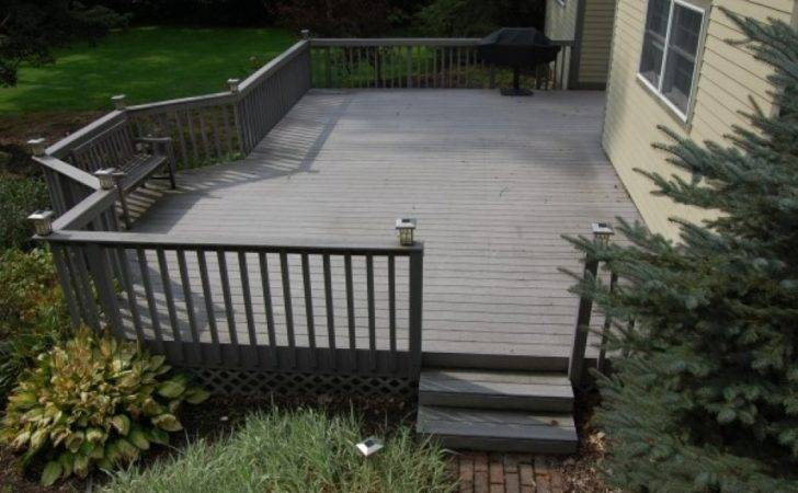 Painted Decks Here Large Deck Gray