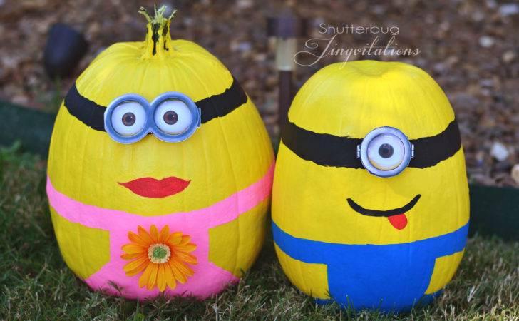 Painted Elmo Pumpkin Minion Pumpkins Jingvitations