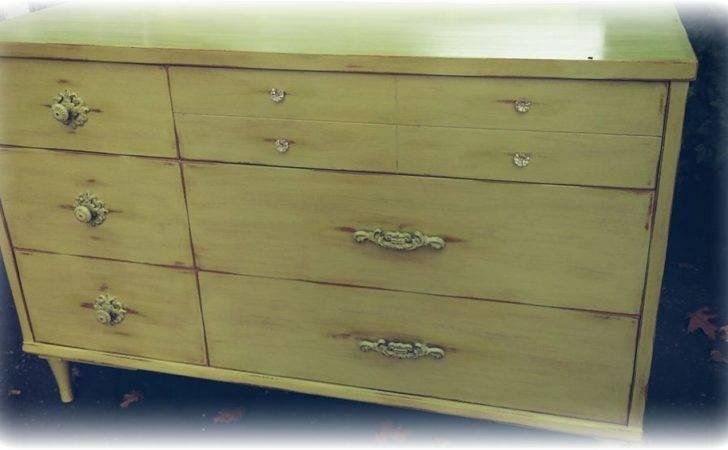 Painted Furniture Dresser Modern Midcentury Thrifted