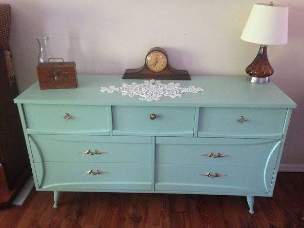 Painted Furniture Mid Century Modern Dresser Makeover