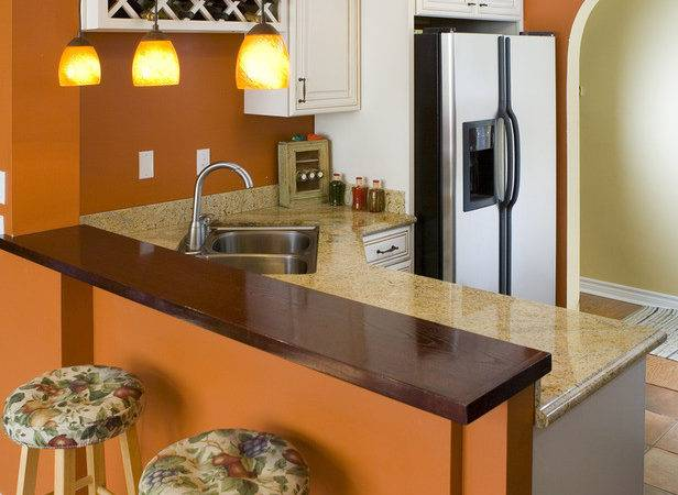 Painted Kitchen Cabinets Orange Ggdgcolombia