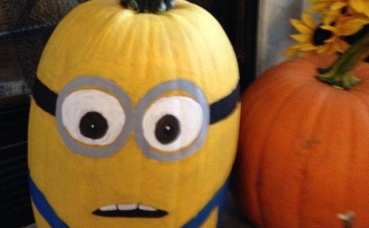 Painted Minion Pumpkin Diy Projects Pinterest