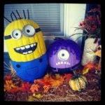 Painted Minion Pumpkins Holidays Pinterest