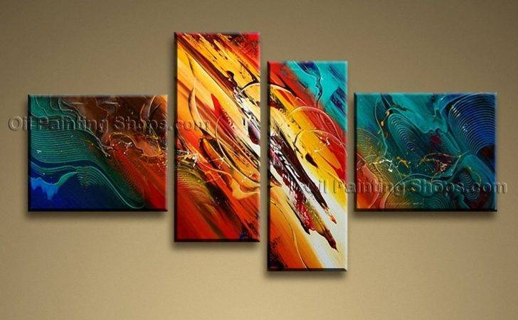 Painted Pieces Modern Abstract Painting Wall Art Interior Design
