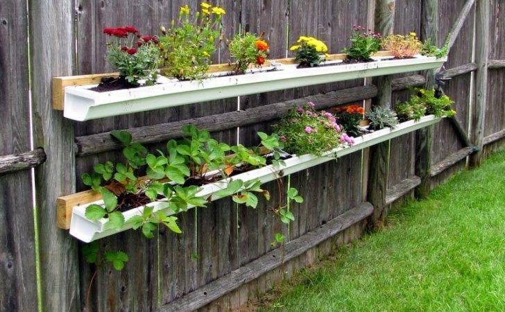 Painted Therapy Gutter Garden