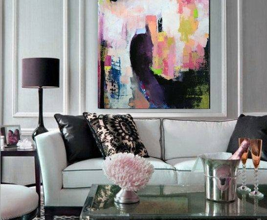 Painting Contemporary Abstract Art Colorful Oil