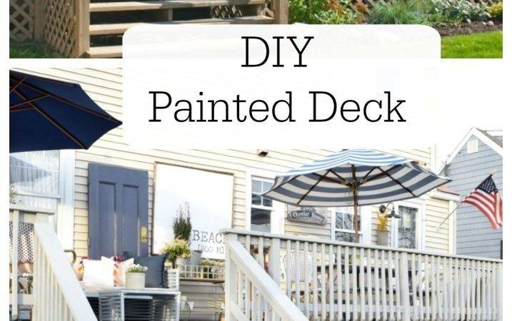 Painting Deck Made New Furniture Raymour Flanigan