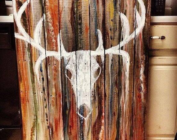 Painting Handmade Custom Made Reclaimed Wood Pallet Pallets