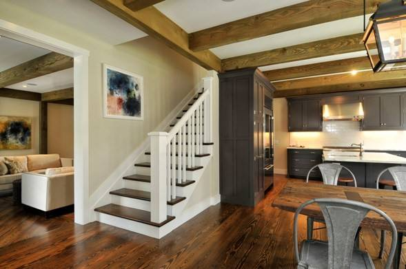 Painting Hung Stair Wall Provides Continuity One