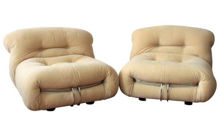 Pair Afra Tobia Scarpa Soriana Lounge Chairs Stdibs