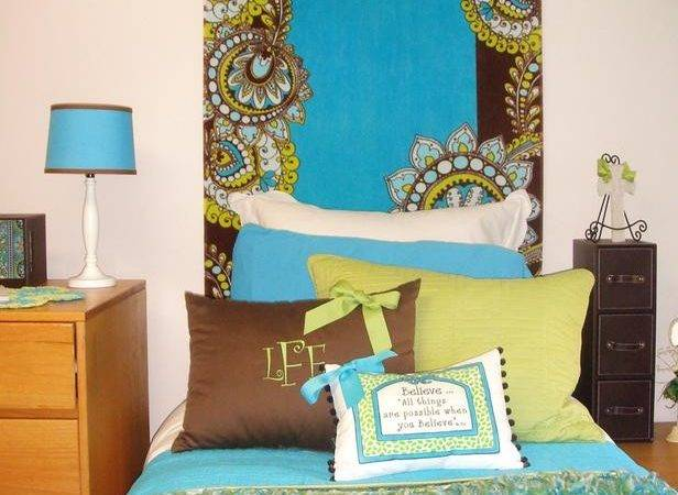 Paisley Dorm Room Headboard
