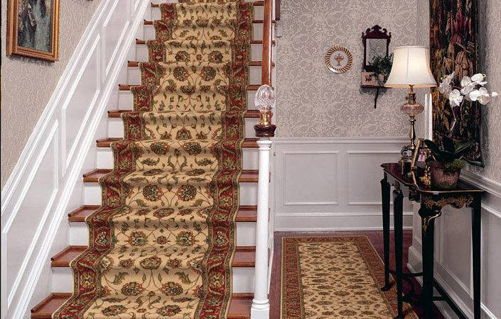 Palace Garden Ivory Carpet Stair Runner