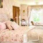 Pale Pink Cream Floral Bedroom Decorating Beautiful