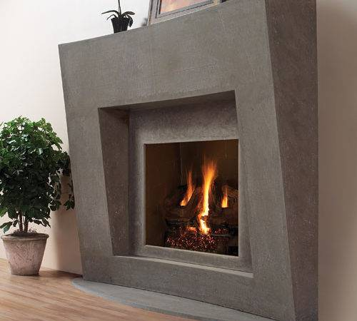 Palermo Stone Fireplace Mantel Contemporary Indoor Fireplaces