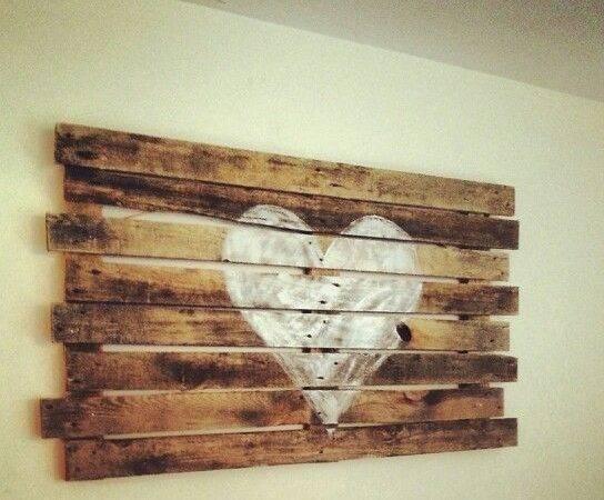 Pallet Art Heart Diy Painting Wood Restoration