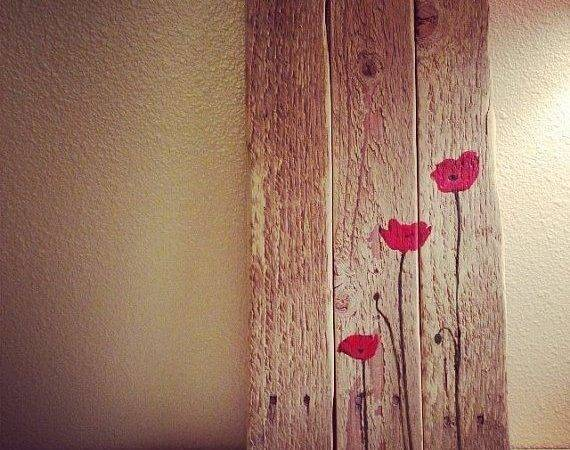 Pallet Art Poppy Painting Great Garden Shed Barn
