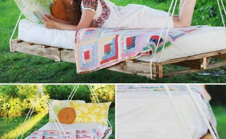 Pallet Bed Swing Outdoors Pinterest