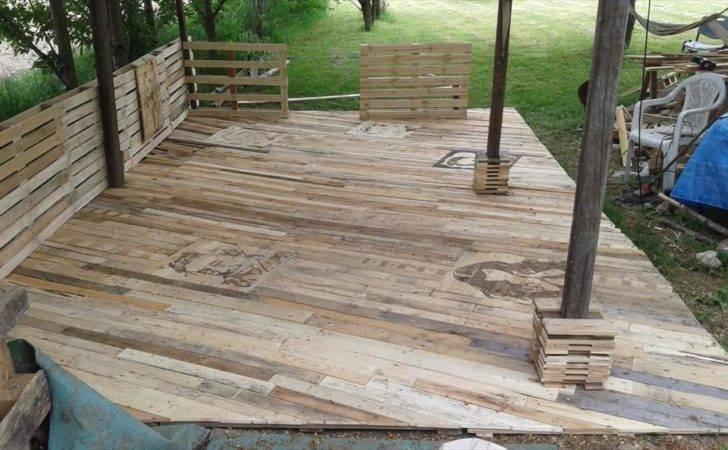 Pallet Deck Construction Diy Patio Furniture