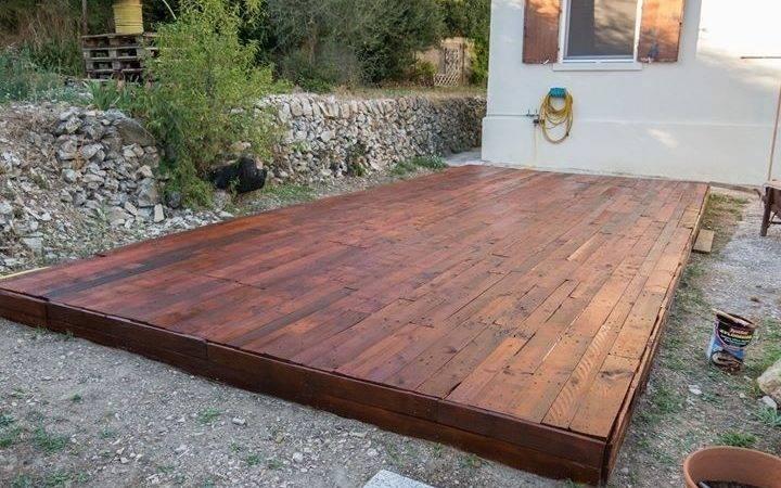 Pallet Deck Home Pinterest