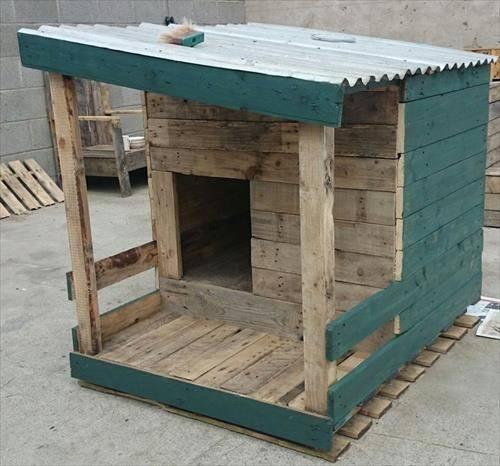 Pallet Dog House Plans Diy Made Pallets Designs