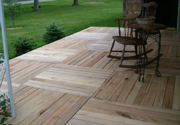 Pallet Patio Deck Unique Furniture Diy