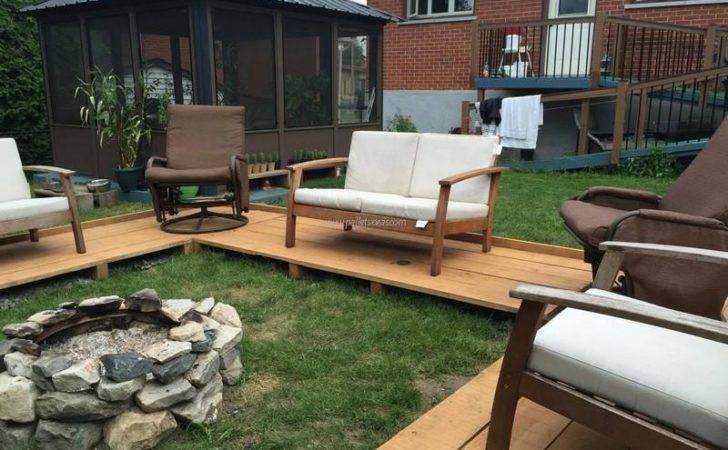 Pallet Patio Garden Lounge Floor Ideas