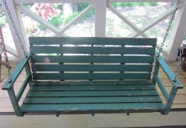 Pallet Porch Swing Bench Whatever Makes Feel Good Pinterest