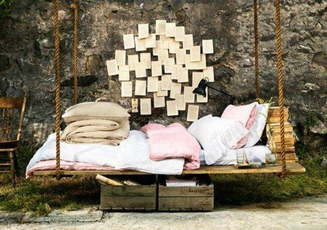 Pallet Swing Bed Diy Beds Bring Relaxation Your Home