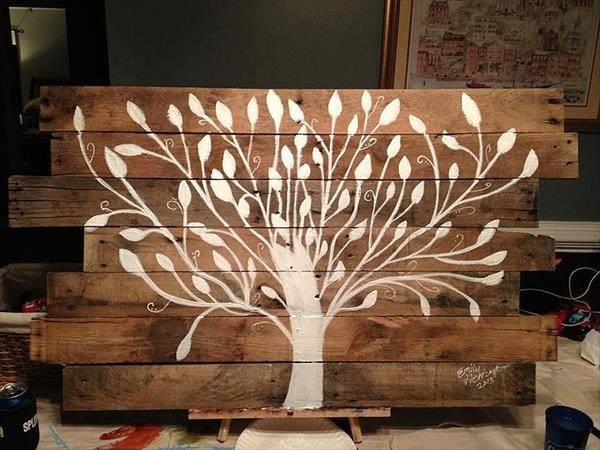 Pallet Tree Painting Wall Art Furniture Plans
