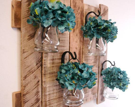 Pallet Wall Decor Colored Hanging Pineknobsandcrickets