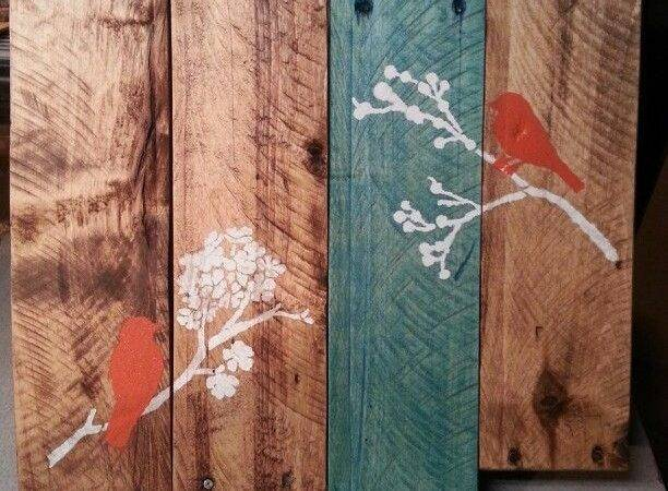 Pallet Wood Bird Painting Projects Pinterest