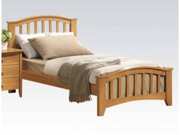 Panel Bed Gentle Curve Slightly Tapered Legs Round