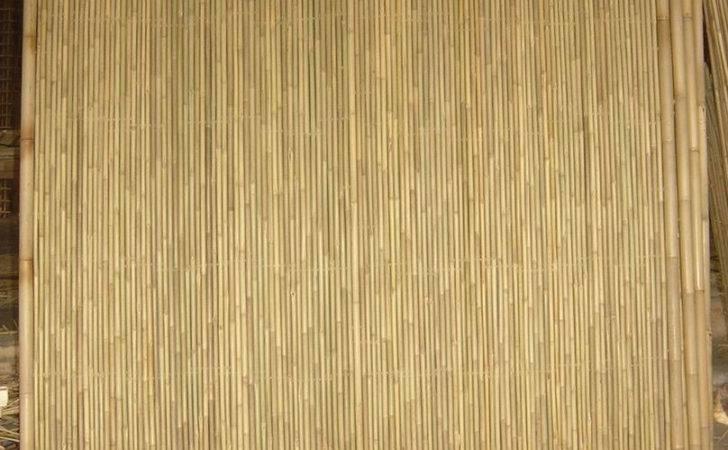 Panel Cream Bamboo Screen Brown Arty Fence