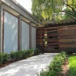 Panels Framed Redwood Recycled Horizontal Fence Modern