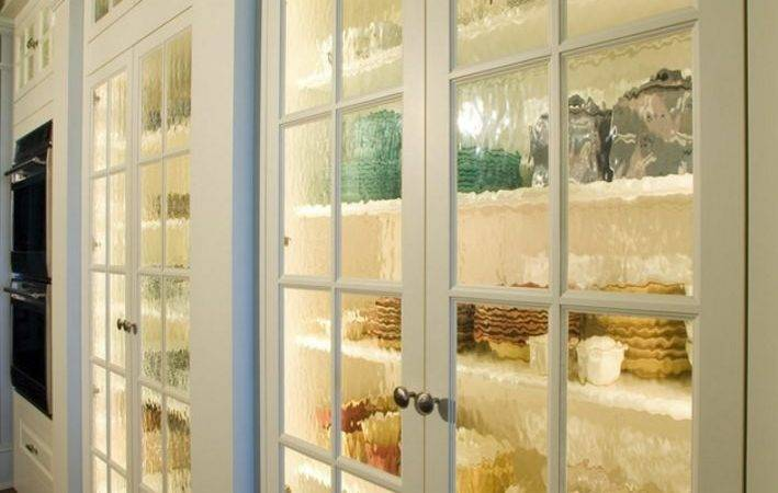Pantry Rain Glass Doors Light Inside Great Idea