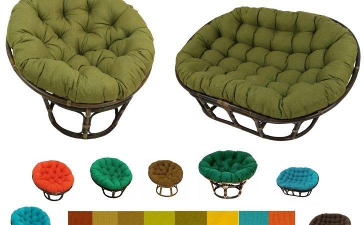 Papasan Chair Cushions Patio Porch Garden Pillows Indoor Outdoor Large