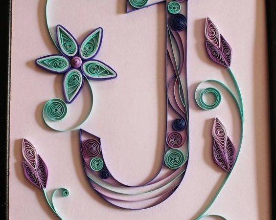 Paper Quilled Original Artwork Monogram Quilling