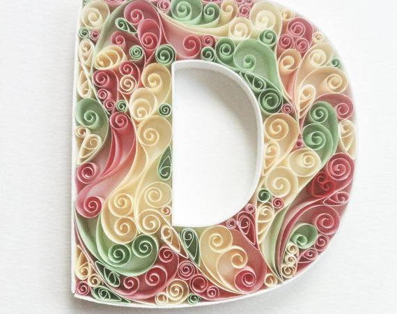 Paper Quilling Monogram Quilled Letters