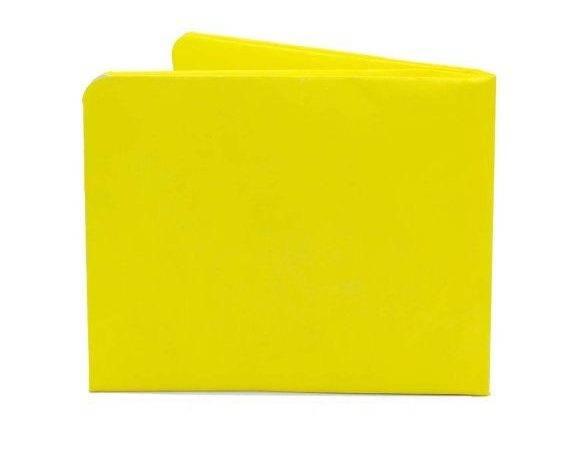 Paper Thin Wallet Unisex Men Women Bright Yellow Design Made