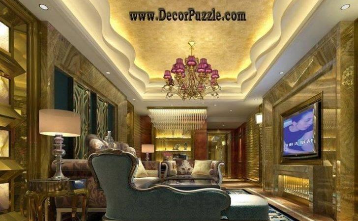 Paris Design Luxury Living Room Pop Ceiling Designs More