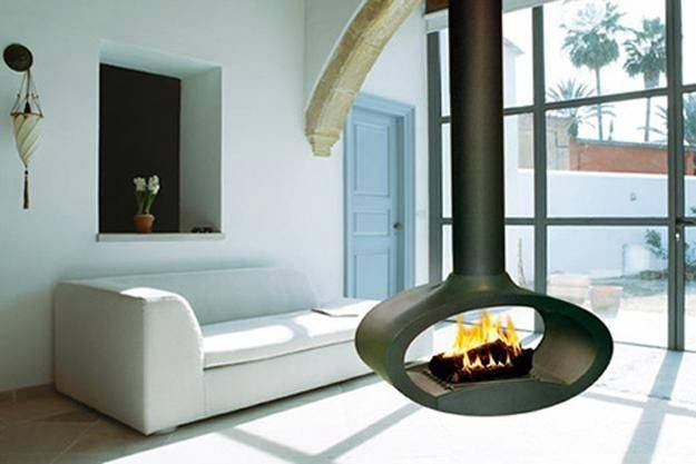 Party Fireplaces Hanging Biofuel Open Suspended
